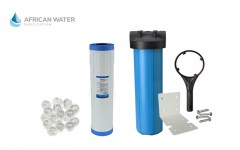 African Water Purification Single Big Blue Canister with Siliphos Crystals Water Softner